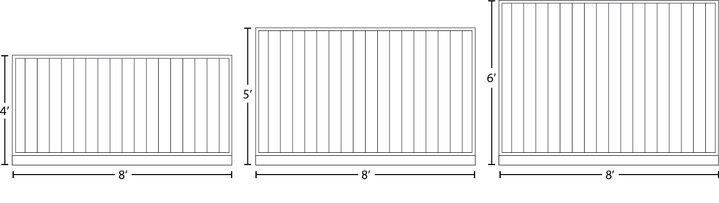 outstanding wood fence panels dimensions 11