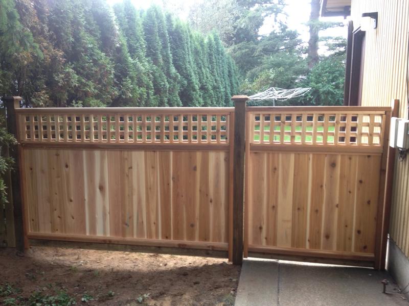 Cedar Lattice Panels ~ Square lattice cedar fence panels big red