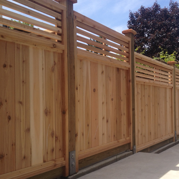 Custom cedar fence panels big red