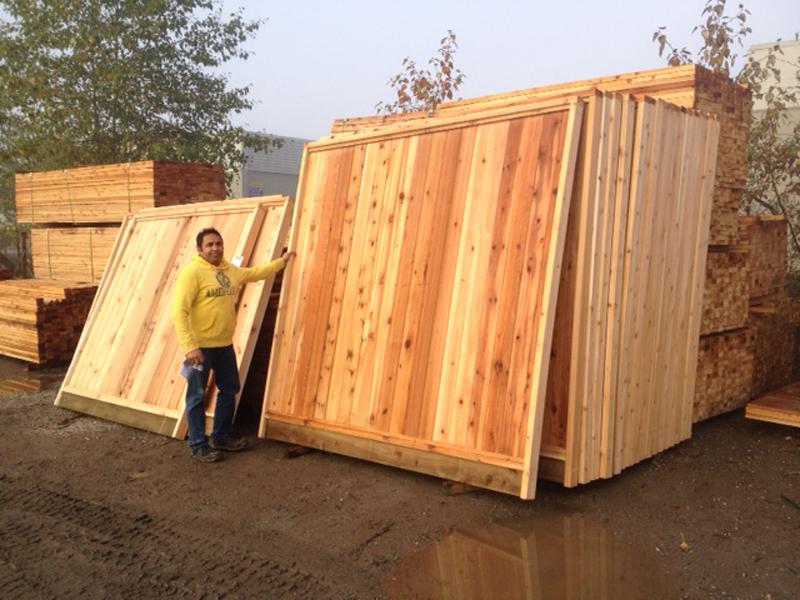 Custom Cedar Fence Panels Big Red Cedar